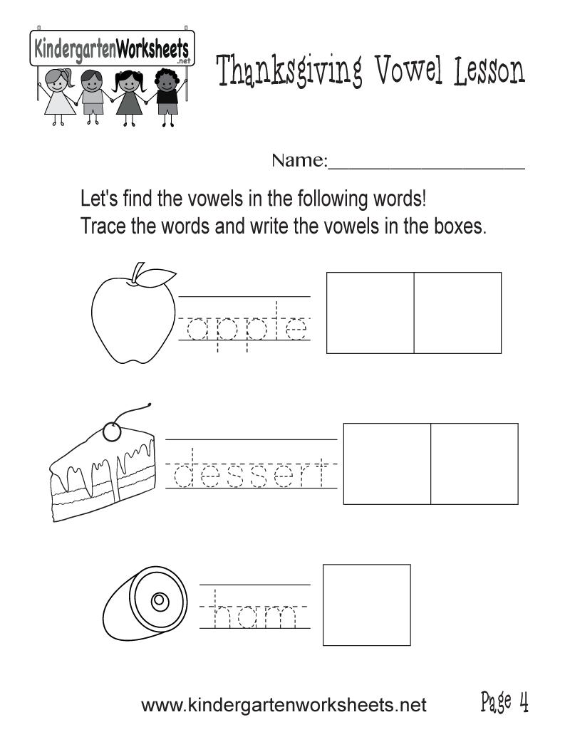 worksheet Worksheet Vowels find vowels in food worksheet thanksgiving vowel lesson page 4 kindergarten printable