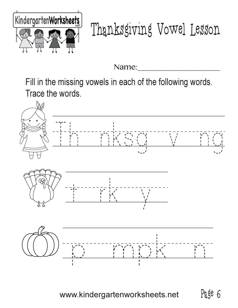 Workbooks vowels worksheets pdf : Missing Vowels Thanksgiving Worksheet (Thanksgiving Vowel Lesson ...