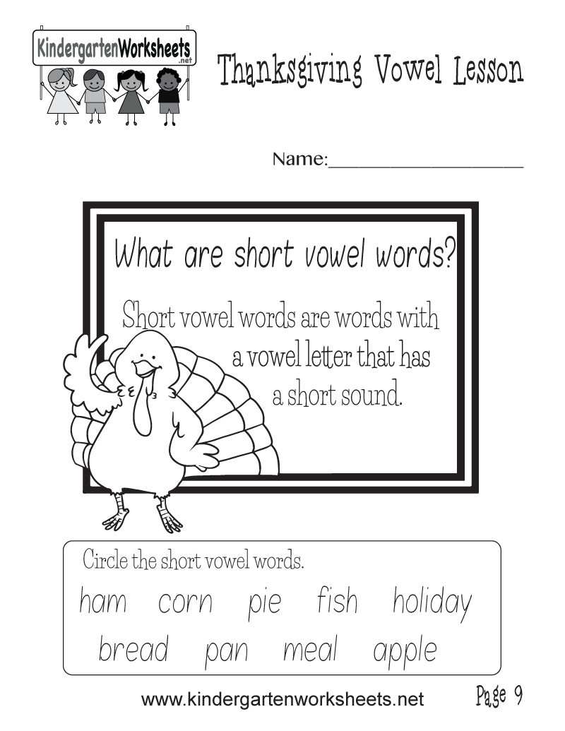 worksheet Short Vowels Worksheets what are short vowel words worksheet thanksgiving lesson kindergarten printable