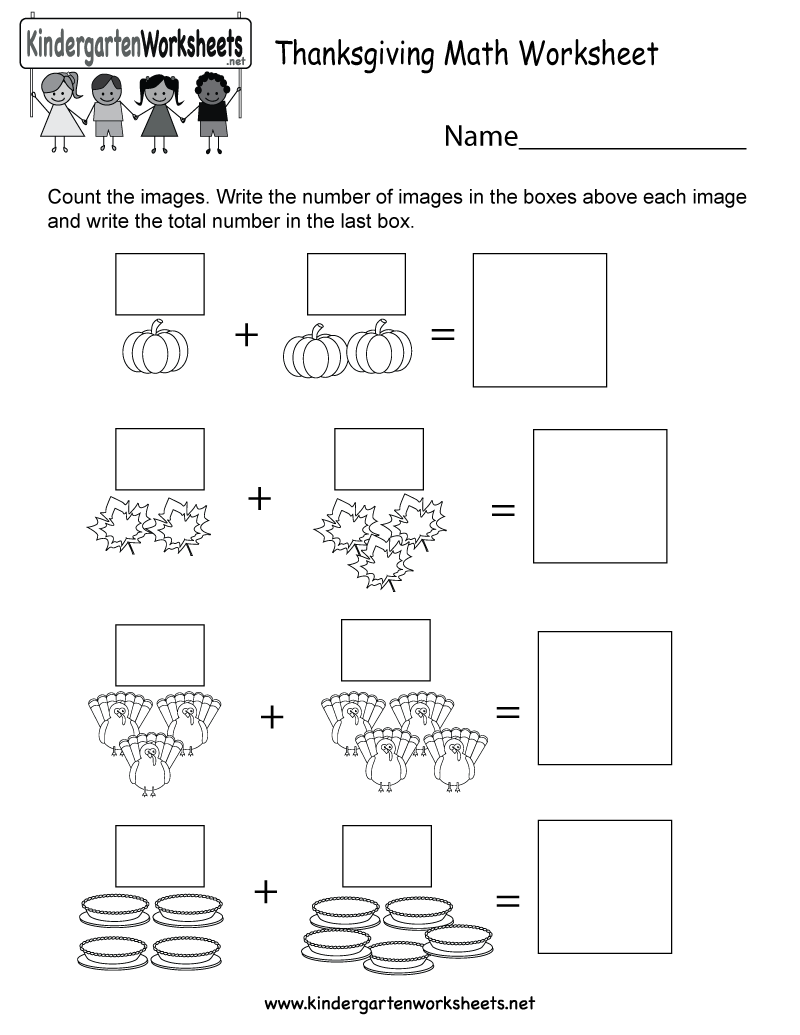 Free Printable Thanksgiving Math Worksheet for Kindergarten – Free Printable Thanksgiving Math Worksheets