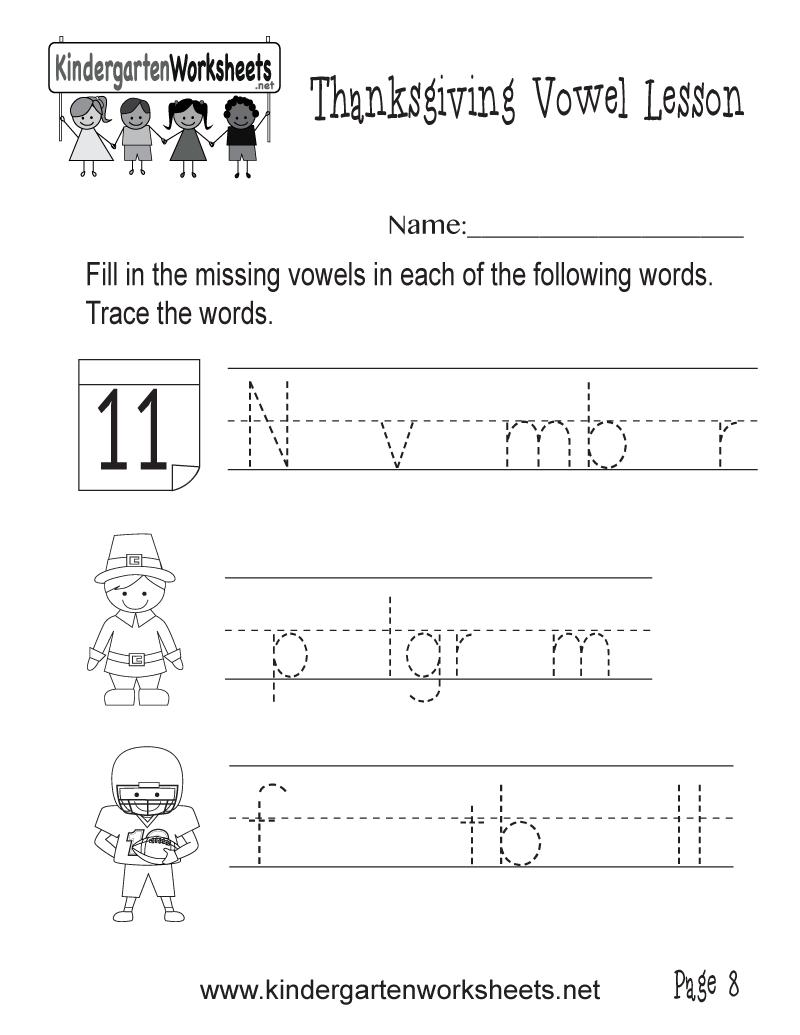 write the missing vowels worksheet thanksgiving vowel lesson page 8. Black Bedroom Furniture Sets. Home Design Ideas