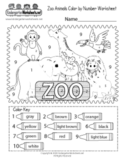Free Zoo Worksheets For Kindergarten Learning With Cute Animals